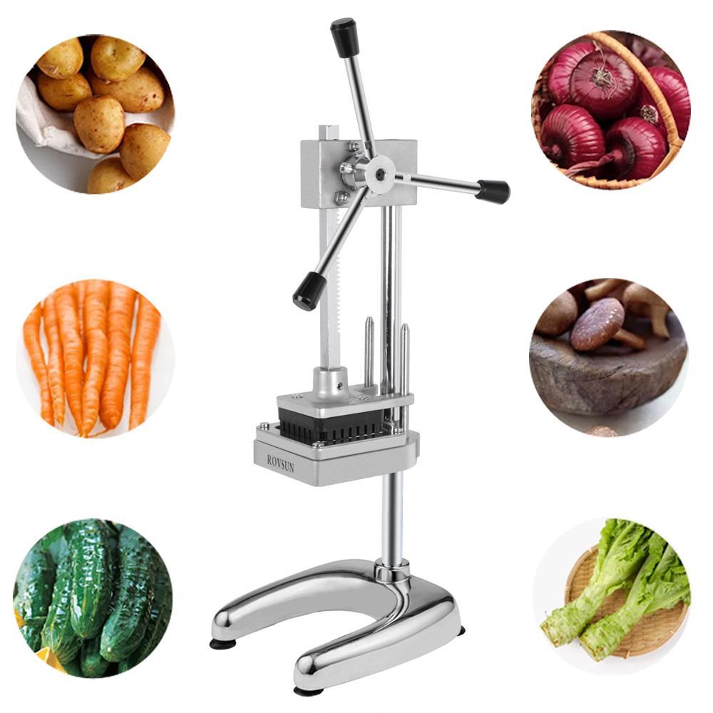 Commercial Restaurant Potato French Fry Fruit Vegetable Cutter Slicer W// Blades