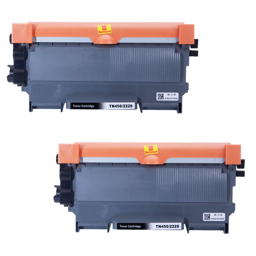 For 2 x BROTHER TN450 TN-450 TONER HL 2132 2220 2240D 2270 2270DW 2280 2280DW