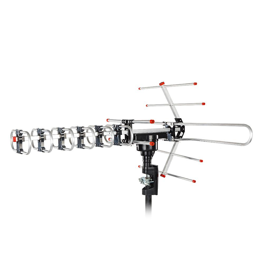 Leadzm Longe Range 180Miles Outdoor Amplified HDTV Antenna 22-38dB 360 Rotation